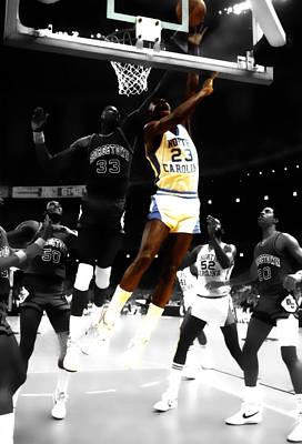 Air Jordan On Patrick Ewing Poster