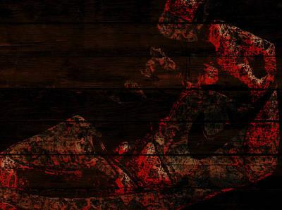 Air Jordan Sneaker On Wood Wall Poster by Brian Reaves