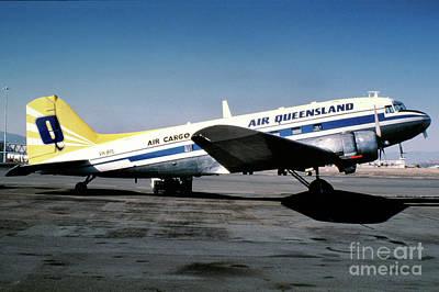 Air Queensland Douglas C-47a-20-dk, Vh-bpl Poster by Wernher Krutein