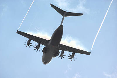Poster featuring the photograph Airbus A400m by Tim Beach