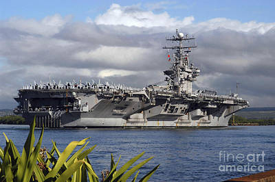 Aircraft Carrier Uss Abraham Lincoln Poster by Stocktrek Images