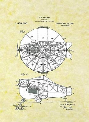 Airplane 1918 B Patent Poster