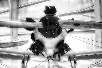 Airplane Wooden Propeller And Engine Pt 22 Recruit 02 Bw Poster