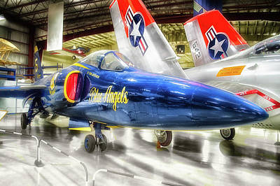 Airplanes Military Jet Blue Angles Pa 01 Poster by Thomas Woolworth