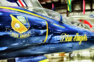 Airplanes Military Jet Blue Angles Pa 02 Poster by Thomas Woolworth