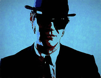 Akroyd Blues Brothers Poster by Dan Sproul