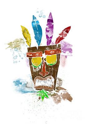 Aku Aku Print, Inspired By The Playstation Crash Bandicoot Games Poster by Pete Wardley
