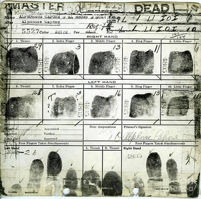 Al Capone Fingerprints Poster by Jon Neidert
