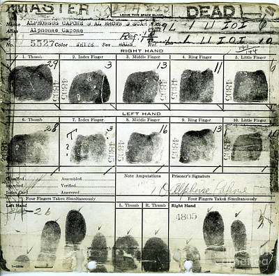 Al Capone Fingerprints Poster