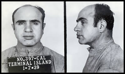 Al Capone Mugshot  1939 Poster