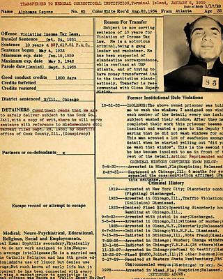 Al Capone Transfer Record Alcatraz Island To Terminal Island 20170518 Poster