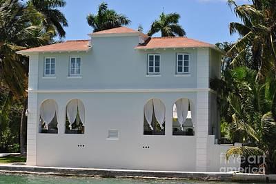 Al Capones Miami Pool House Poster by Daniel Diaz