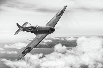Poster featuring the photograph Al Deere In Kiwi IIi Bw Version by Gary Eason