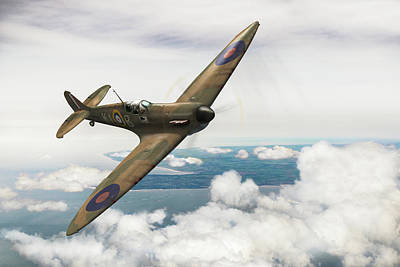 Poster featuring the photograph Al Deere In Kiwi IIi by Gary Eason