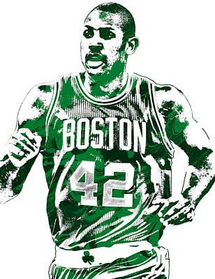 Al Horford Boston Celtics Pixel Art Poster by Joe Hamilton
