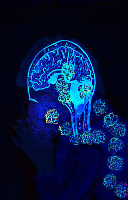 Al In The Mind Black Light View Poster by Lisa Brandel