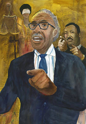 Poster featuring the painting Al Sharpton by Brian Meyer