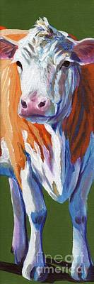 Poster featuring the painting Alabama Cow by Pat Burns