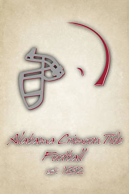 Alabama Crimson Tide Helmet 2 Poster by Joe Hamilton