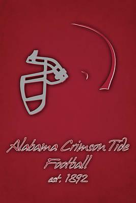 Alabama Crimson Tide Helmet Poster by Joe Hamilton