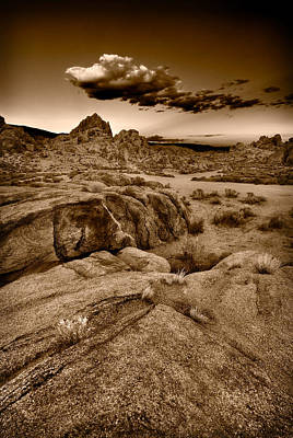 Alabama Hills California B W Poster by Steve Gadomski