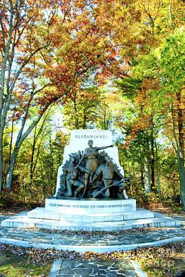 Alabama Monument At Gettysburg Poster