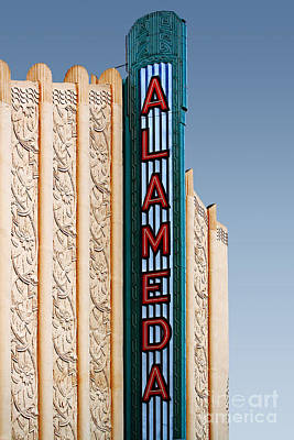 Alameda Movie Theater . Alameda California Poster by Wingsdomain Art and Photography