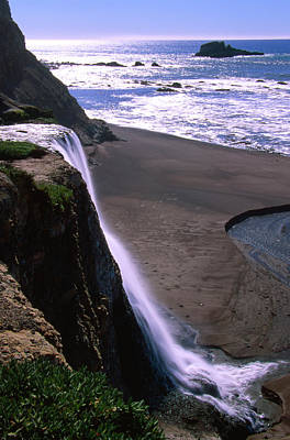Alamere Falls - Wildcat Beach Poster by Soli Deo Gloria Wilderness And Wildlife Photography