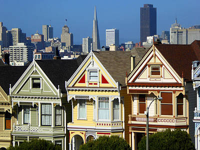 Alamo Square San Francisco Poster by Art America Gallery Peter Potter