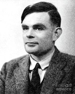 Alan Turing, Mathematical Genius By Js Poster