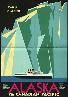 Alaska Canadian Pacific - Vintage Poster Folded Poster