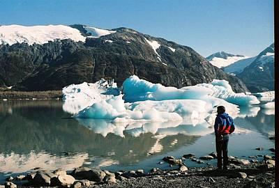 Alaska Glacier Lake Poster by Judyann Matthews