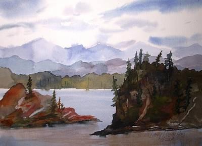 Alaska Inside Passage Poster by Larry Hamilton