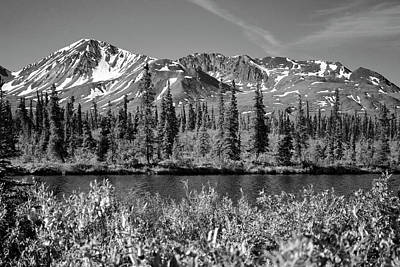 Poster featuring the photograph Alaska Mountains by Zawhaus Photography