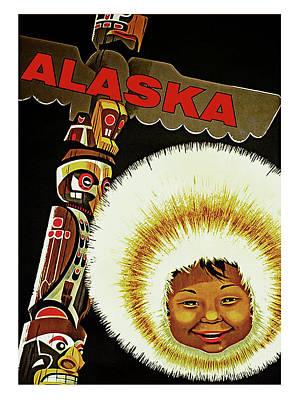 Alaska, Old Travel Poster Poster by Long Shot