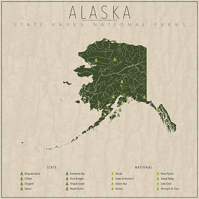 Alaska Parks Poster