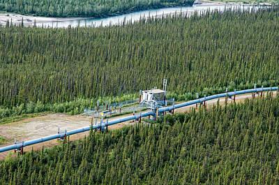 Alaska Pipeline - Koyukuk River Poster by Gary Rose