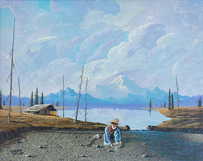 Poster featuring the painting Alaskan Atm by Richard Faulkner