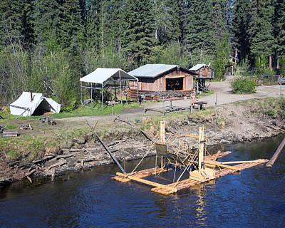 Alaskan Fishing Camp Poster by Allan Levin