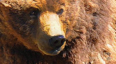 Alaskan Kodiak Bear Poster by Diane E Berry