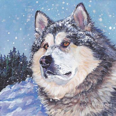 Alaskan Malamute Poster by Lee Ann Shepard