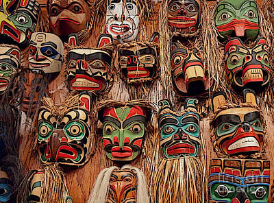 Alaskan Masks Poster