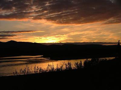Alaskan Sunset Poster by Adam Owen