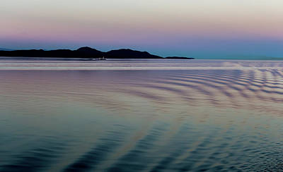 Alaskan Sunset At Sea Poster
