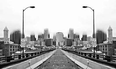 Alaskan Way Viaduct Downtown Seattle Reflection Poster by Pelo Blanco Photo