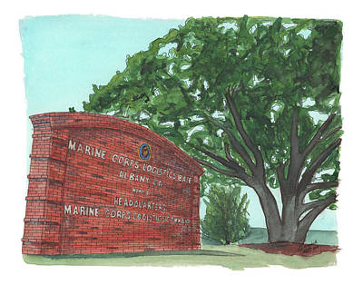 Poster featuring the painting Albany Logistics Base Welcme by Betsy Hackett