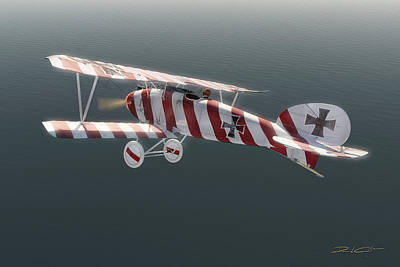 Albatros D.iii Of Jasta 11 Poster by David Collins