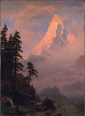 Albert Bierstadt    Sunrise On The Matterhorn Poster