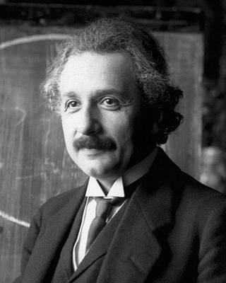 Poster featuring the pyrography Albert Einstein Nel 1921 by Artistic Panda