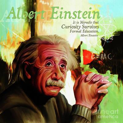 Albert Einstein Quote  Poster by Gull G